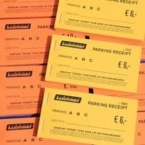 Parkeertickets in boekjes