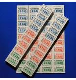 CombiCraft Genummerde standaard Euro-bonnen op strips -  PRIJS PER 1000 STUKS VANAF:
