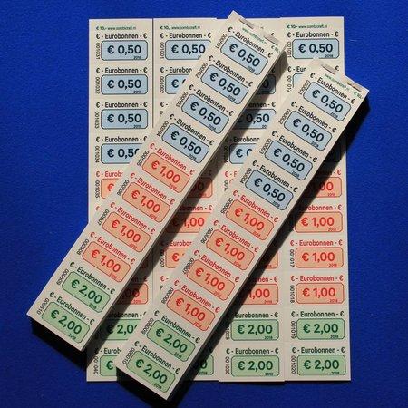 CombiCraft Eurobonnen op strip met jouw wensbedragen per 1000 bonnen
