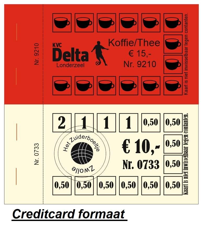 CombiCraft Knipkaart met zwarte druk in 1 ontwerp, op gekleurd papier, prijs per 100 kaarten vanaf: