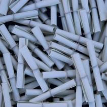 100 Witte rol-lootjes voorzien van nummers