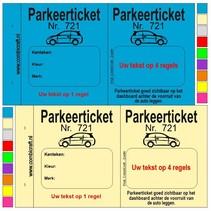 Parkeertickets met uw tekst