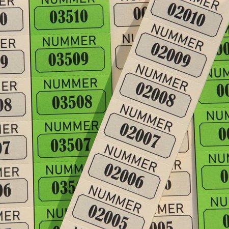 CombiCraft Dubbelnummers of Lootjes op strip 2x1000 stuks