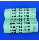 CombiCraft Bagagelabels of bagagetickets op rol met sleuf per 500 labels
