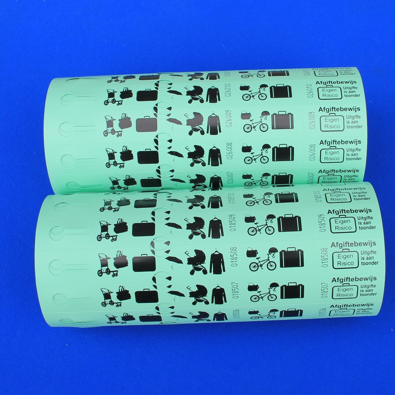 CombiCraft Bagagetickets - Bagagelabels op rol - 500 nummers