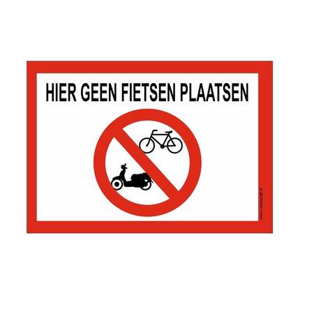 CombiCraft Bordje - hier geen fietsen plaatsen