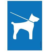 Honden aan de lijn (pictogram) bord