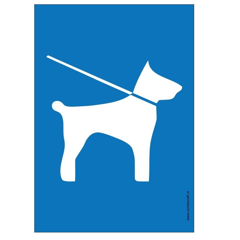 CombiCraft Bordje - Pictogram Honden aan de lijn, v.a.