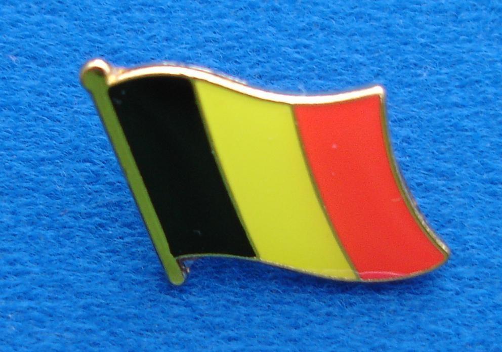 CombiCraft Belgische Vlag Pin  - Le drapeau de la Belgique met vlindersluiting