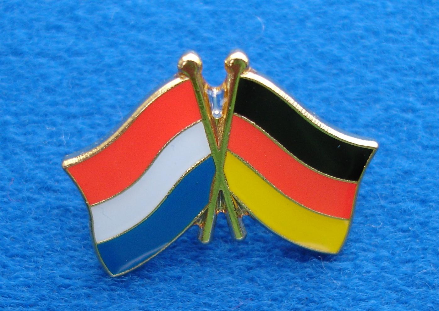 CombiCraft Vriendschapspin Nederland - Duitsland met vlindersluiting