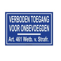 Verboden toegang  (art. 461)