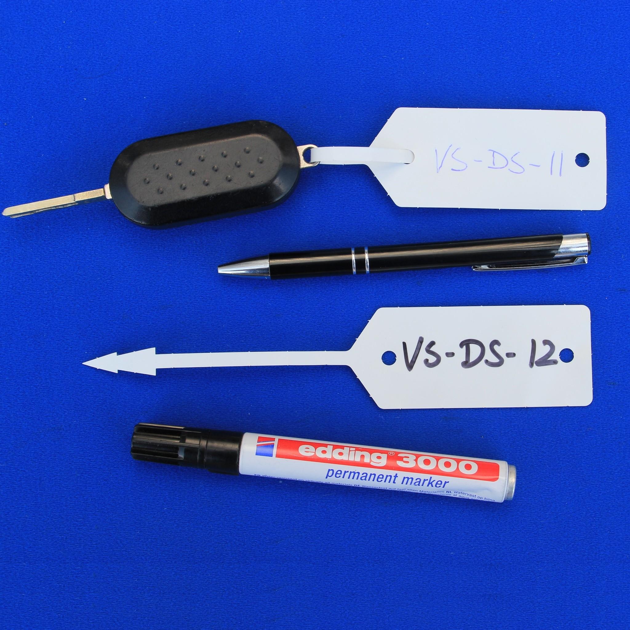 CombiCraft Autolabel - Werkplaatslabel met rattenstaart met Ballpoint of stift te beschrijven, prijs per 500 stuks v.a.
