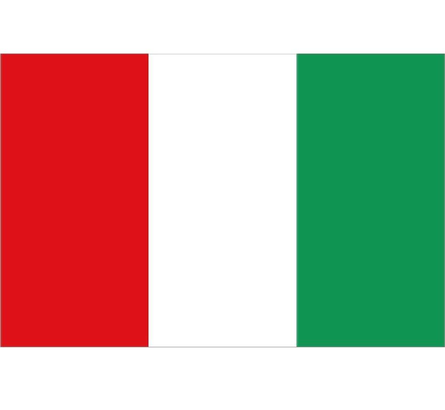 CombiCraft Italiaanse vlag polyester 150 x 90 cm in buitenkwaliteit.