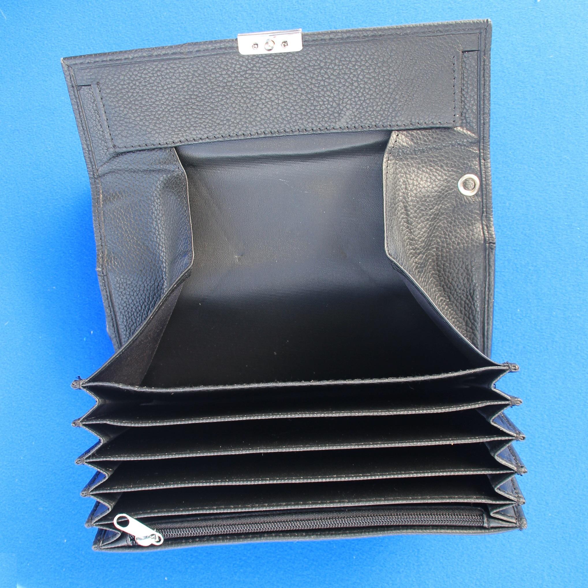 CombiCraft Kelnerbeurs 175 x 90 mm van Echt Rund-leer  (Natuur gedroogd) - Grovere structuur, prijs per stuk vanaf: