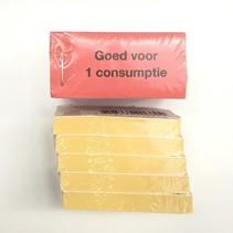 Consumptiebon Goed voor 1 consumptie 5x100 stuks
