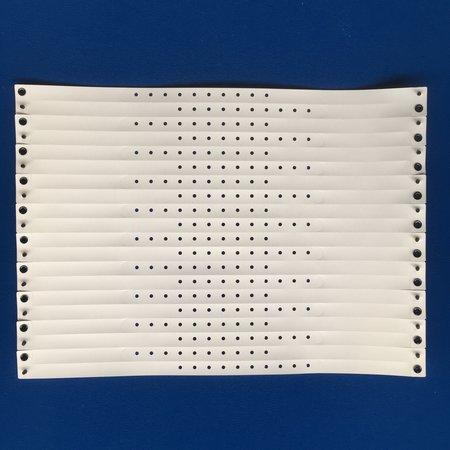 CombiCraft 100 Smalle vinyl PE polsbandjes (Blanco)-Polsbandjes van sterk Vinyl in mooie kleuren