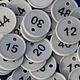 CombiCraft Genummerde Ø29 mm munten met gat in verschillende reeksen verkrijgbaar
