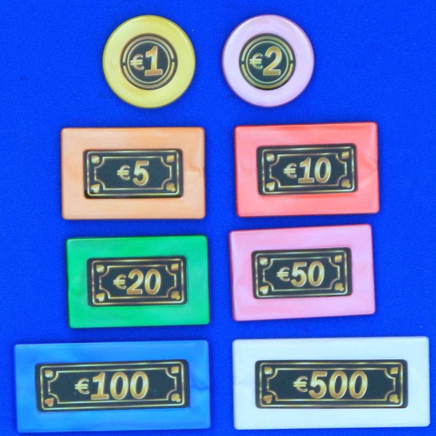 CombiCraft Speel geld - Bedragen: 1-2-5 - 10 - 20 - 1000 en 500 euro