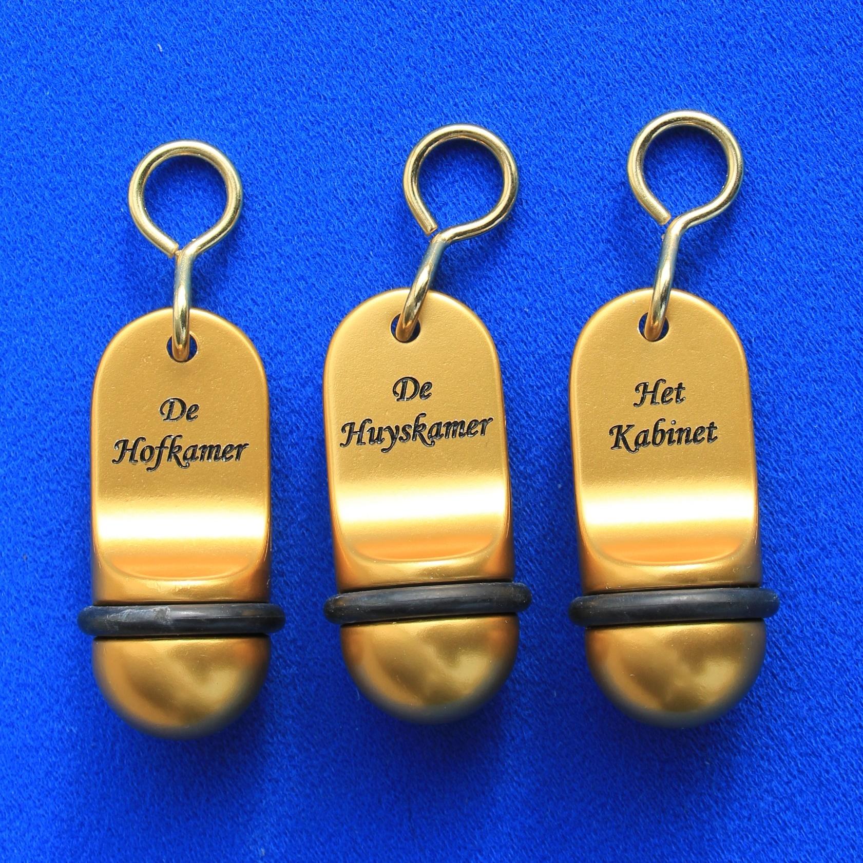 CombiCraft Hotelsleutelhanger MINI Classic in Zilver-, Goud- of Bronskleurige Afwerking, prijs per stuk