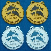 Zwemdiploma B medaille Ø60mm v.a.