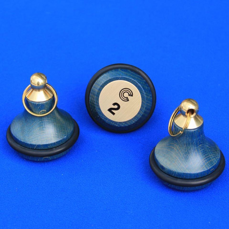 CombiCraft BELLY WOOD echt BEUKENHOUTEN Hotelsleutelhanger met rubberen stootring,  prijs per stuk vanaf: