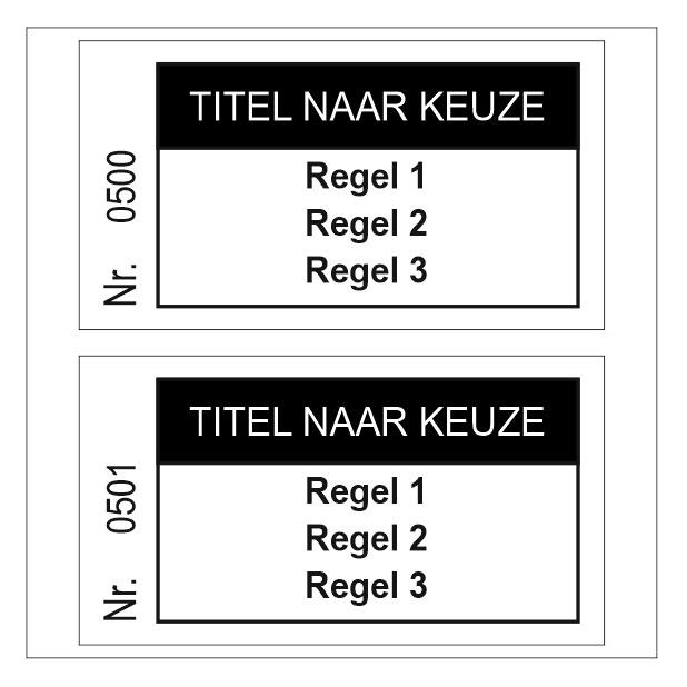 CombiCraft 1000 Bonnen met Titel en maximaal 3 regels tekst in het zwart gedrukt, prijs per 1000 bonnen vanaf: