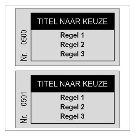 CombiCraft Consumptiebonnen met Titel en maximaal 3 regels tekst in het zwart gedrukt per 1000 stuks