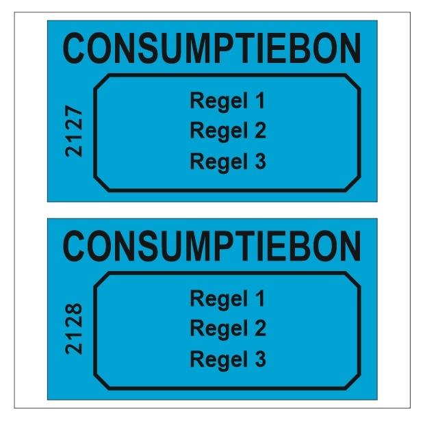 CombiCraft 1000 Consumptiebonnen met maximaal 3 regels tekst, zwart gedrukt, prijs per 1000 bonnen vanaf: