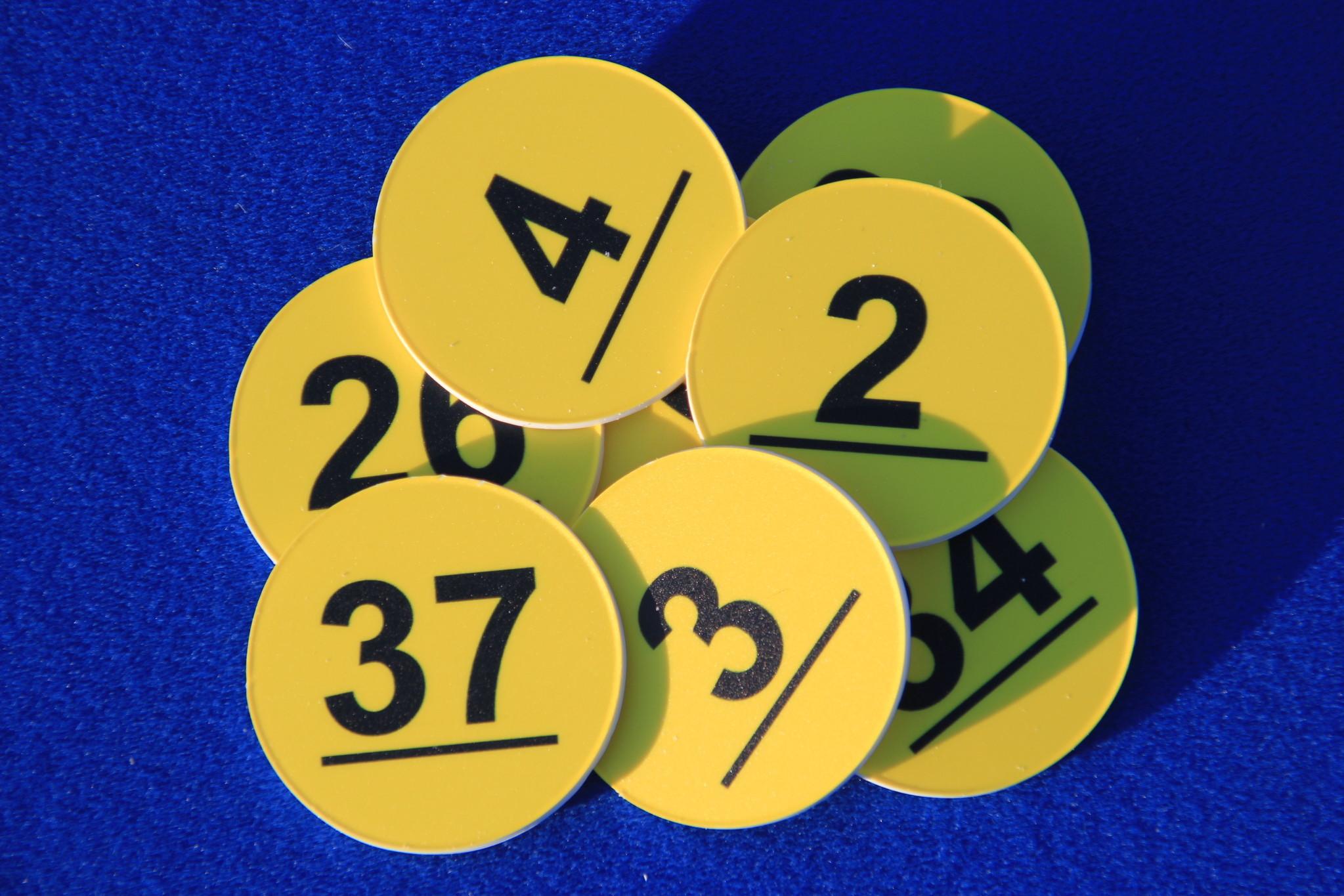 CombiCraft Ø50 mm nummerplaatje, genummerd van 1-50, Prijs per stuk vanaf:
