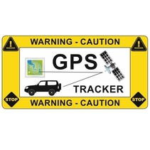 GPS-tracker auto sticker (antidiefstal sticker)