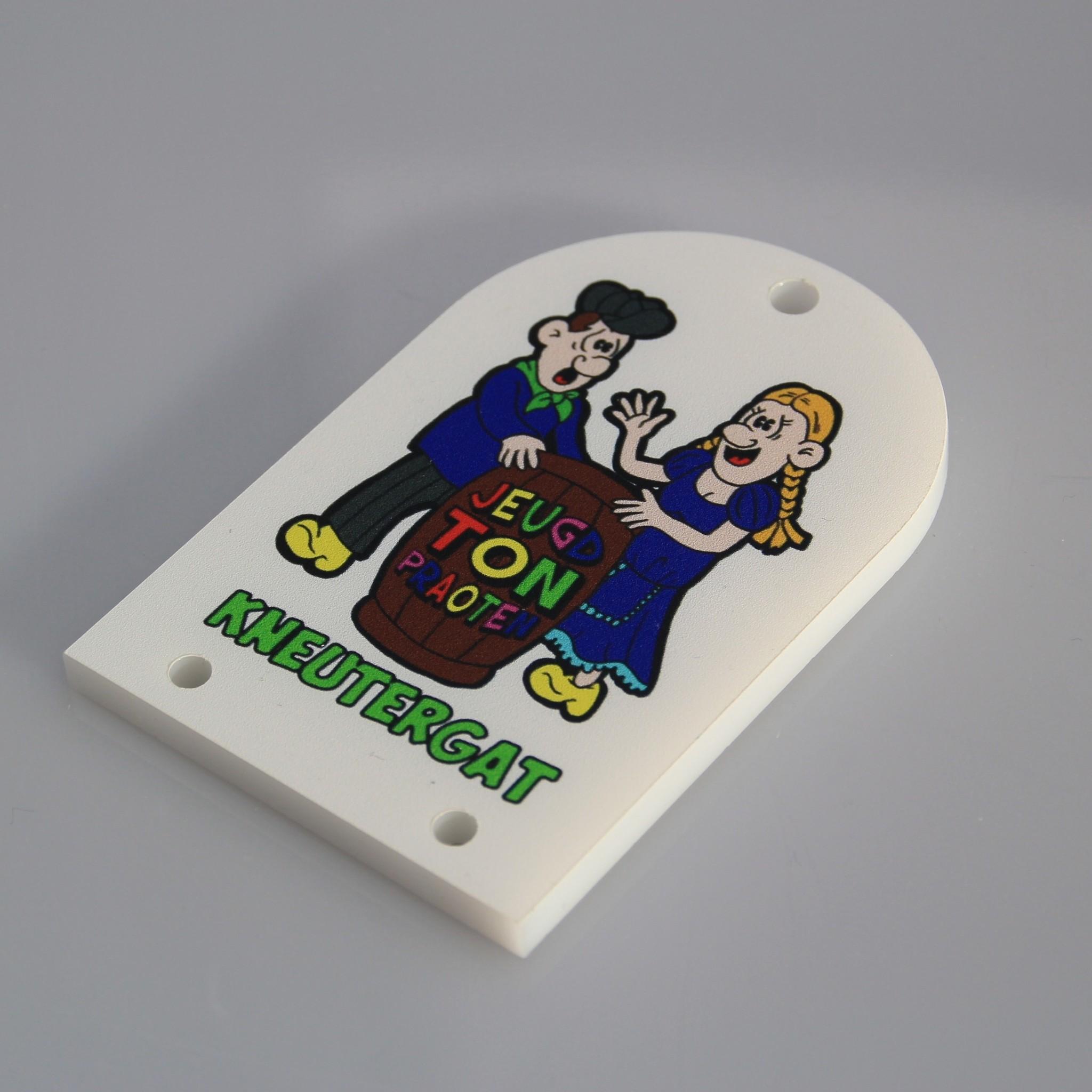 CombiCraft FullColour gedrukte Carnavalsmedailles of huisorde's in iedere buitenvorm, prijs per stuk vanaf: