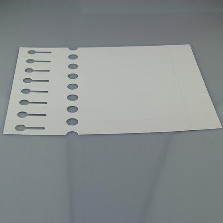 CombiCraft Sleufetiketten met afscheurstrookje voor de Laserprinter 250x25mm met 8 etiketten per vel - Grootverpakking van 2000 stuks