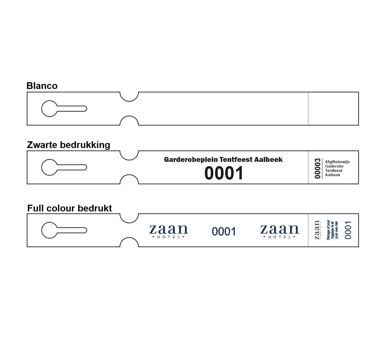 CombiCraft Sleufetiketten 250x25mm met afscheurstrookje en in uw wens bedrukt, prijs per 200 stuks vanaf:
