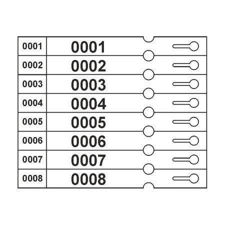 CombiCraft Genummerde Sleufetiketten 250x25mm - Grootverpakking van 1000 stuks
