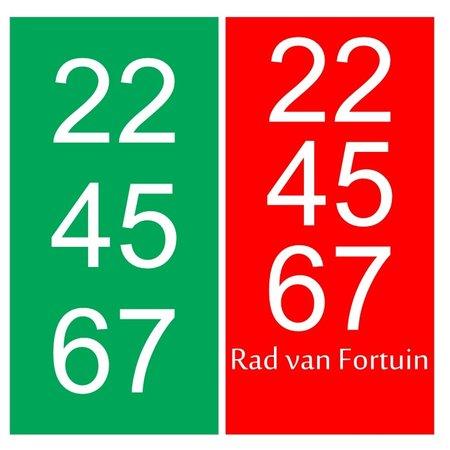 Rad van Fortuin plankjes (Kunststof) met full Colour bedrukking aan 1 zijde, prijs per stuk vanaf: