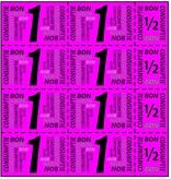 Eigen ontwerp Consumptiekaart met 8 hele en 4 halve bonnen in 8 kleuren, prijs per kaart vanaf: