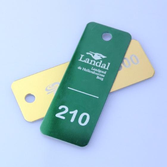 CombiCraft Aluminium Sleutellabel in het formaat 70 x 25 mm - Rood, Zwart, Groen, Goud of Blauw, prijs per stuk vanaf: