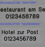 CombiCraft AMÉRIQUE Aluminium Hotelsleutelhanger in Zilver-, Goud- of Bronskleurige Afwerking, prijs per stuk vanaf: