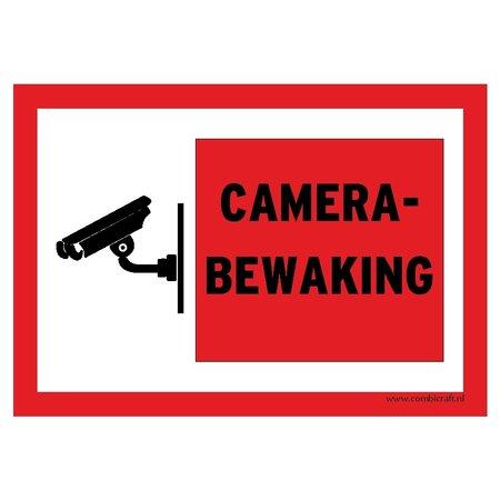 CombiCraft Bordje - Camera bewaking 30x21cm