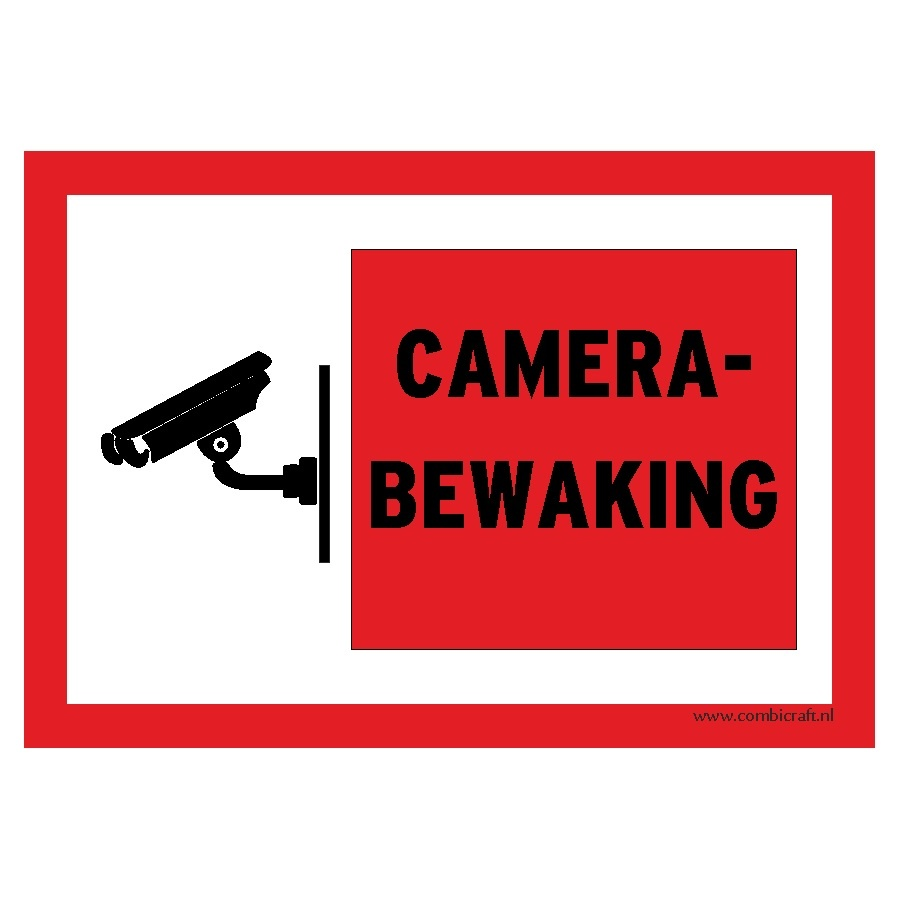 CombiCraft Bordje - Camera bewaking