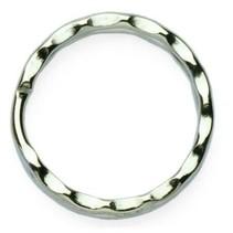 10 geribbelde Sleutelringen zilverkleurig