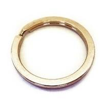 Platte Sleutelringen - Splitringen van goudkleurig gehard STAAL 10 stuks