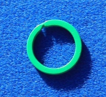 CombiCraft 100 Platte Staal gele Sleutelringen