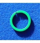 CombiCraft Platte Groene Stalen Sleutelringen 10 stuks