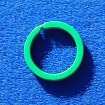 10 Groene platte stalen sleutelringen