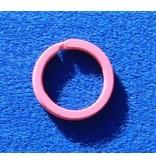 CombiCraft 10 Pink gekleurde platte stalen sleutelringen
