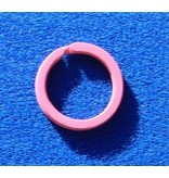 CombiCraft Platte Roze Stalen Sleutelringen 10 stuks