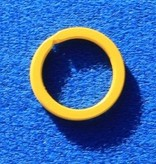CombiCraft Platte Gele Stalen Sleutelringen 10 stuks