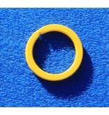 CombiCraft 10 Gele platte stalen sleutelringen