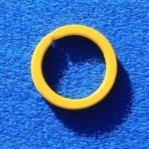 Gele Stalen Sleutelringen 10 stuks